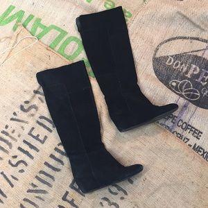 Suede Nine West over the knee boot